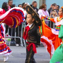Skirts swirled and colorful costumes were the norm for participants of all ages in the annual Hispanic Day Parade in New York City.
